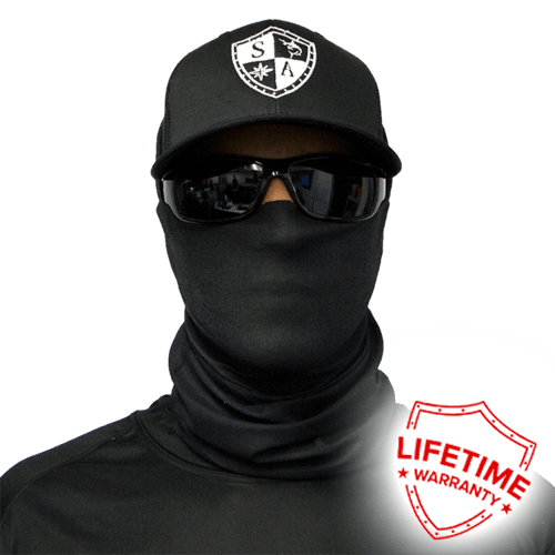 Tactical | Black Face Shield - Face Mask - One Size