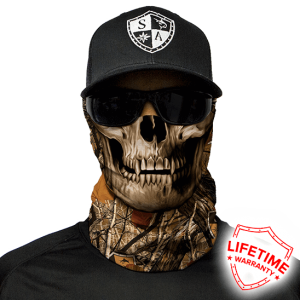 Forest Camo Skull Face Shield - Face Mask - One Size