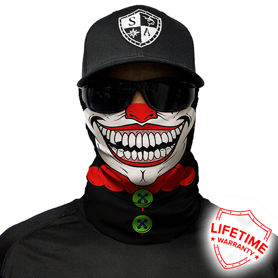 Clown Face Shield - Face Mask - One Size