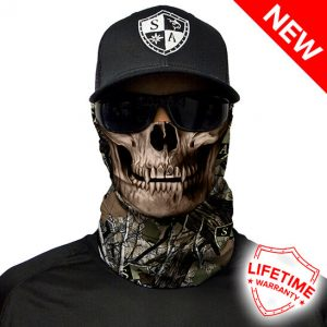 SA Forest Camo | Dregs Skull Faceshield - Face Mask - One Size