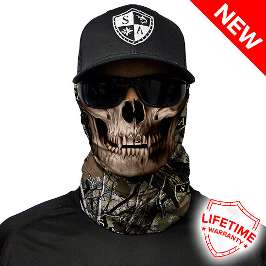 SA Forest Camo   Dregs Skull Faceshield - Face Mask - One Size