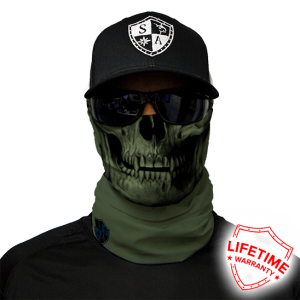 Od Green Skull Face Shield - Face Mask - One Size