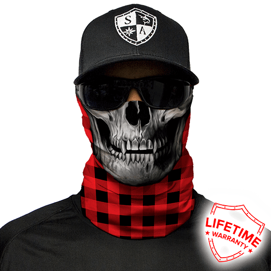 Lumberjack Red Face Shield - Face Mask - One Size
