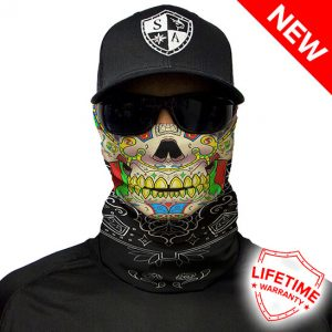 Calavera Skull Face Shield - Face Mask - One Size