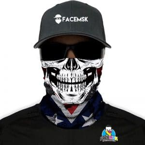 Rebel Vlag Skull Face Shield - Face Mask