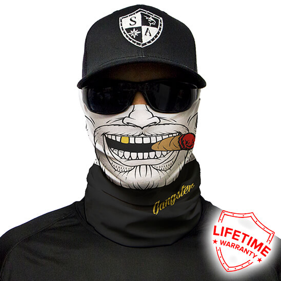 Gangster Face Shield - Face Mask - One Size