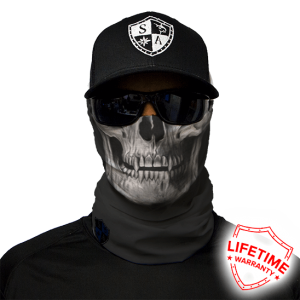 Black Skull Face Shield - Face Mask - One Size