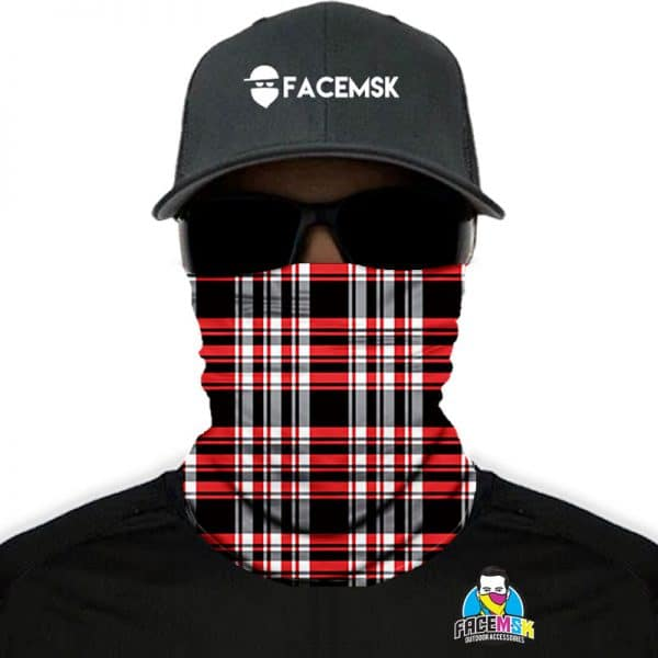 Lumberjack Red Plaid Face Shields - Face Masks