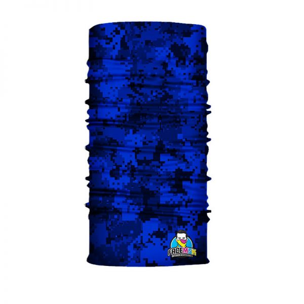 Blue Digi Camo Bandana - Face Shield