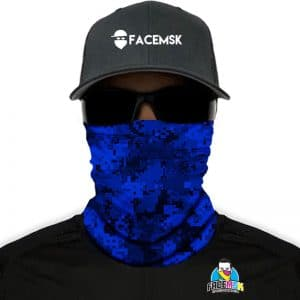 Blue Digi Camo FaceMSK Mask