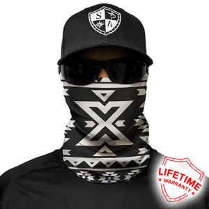 Aztec Black and White Face Shield - Face Mask - One Size