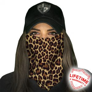 Cheetah Face Shield - Face Mask - One Size