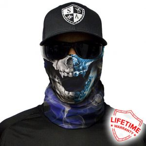 Half and Half Skull Face Shield - Face Mask - One Size