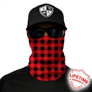 Lumberjack Red Plaid Face Shield - Face Mask - One Size