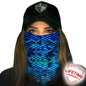 Mermaid Scales Face Shield - Face Mask - One Size