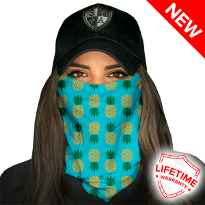 Pineapple Turquoise Face Shield - Face Mask - One Size