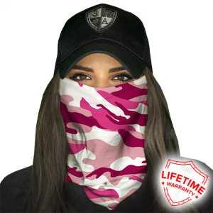 Pink Camo Face Shield - Face Mask - One Size