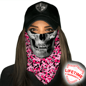 Pink Digi Skull Faceshield - Face Mask - One Size