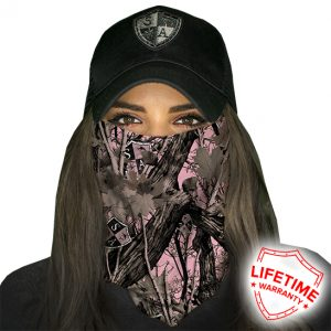 SA Pink Forest Camo Face Shield - Face Mask - One Size