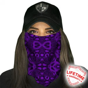 SA Purple Paisley Face Shield - Face Mask - One Size