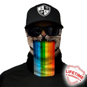 Rainbow Cat Face Shield - Face Mask - One Size