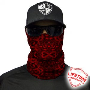 SA Red Paisley Face Shield - Face Mask - One Size