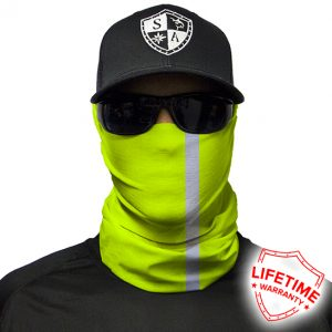 Reflective   Electric Green Face Shield - Face Mask - One Size