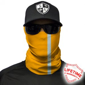 Reflective | Electric Orange Face Shield - Face Mask - One Size