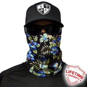 SA Tropical Black Face Shield - Face Mask - One Size