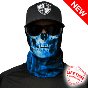 Skull Tech Blue Crow Face Shield - Face Mask - One Size