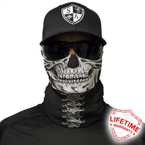 Skeleton Face Shield - Face Mask - One Size