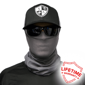 Tactical Grey Face Shield - Face Mask - One Size