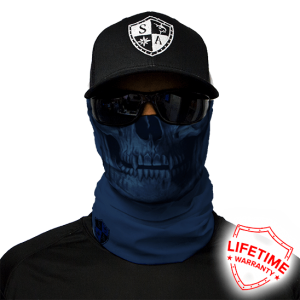 Tactival Navy Skull Face Shield - Face Mask - One Size