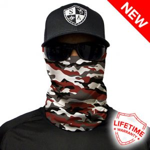 Faceshield - Crimson Military Camo