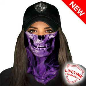 Faceshield - Skull Tech Purple Crow