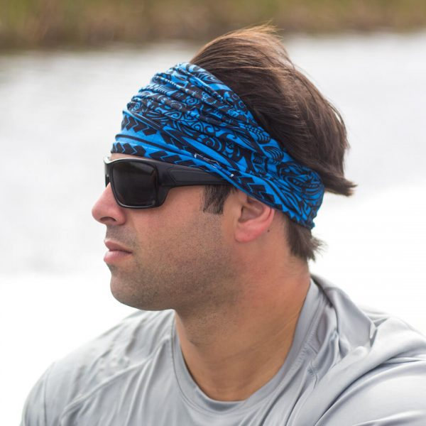 bandana polyesian tribal blue