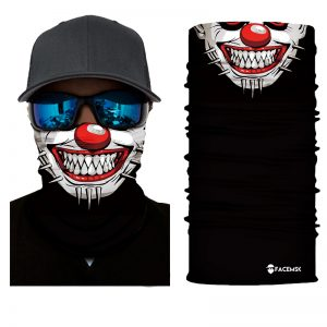 Spiked Clown Face Shield - Face Mask