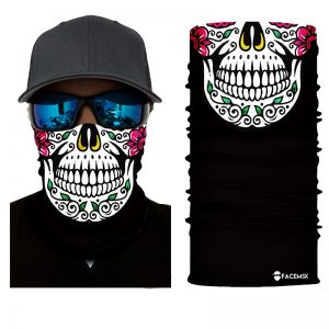 Sugar Skull Face Shield - Face Mask
