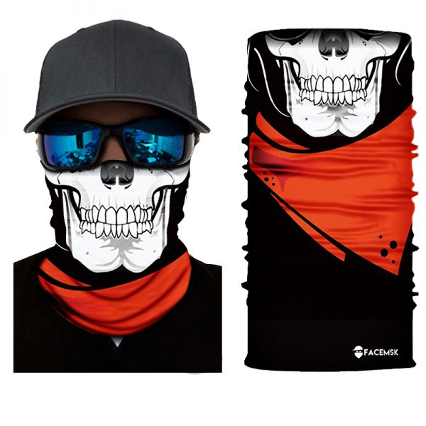 Cowboy Skull Face Shield - Face Mask