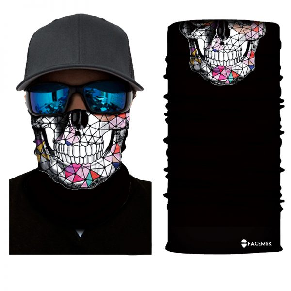 Triangle Skull Face Shield - Face Mask