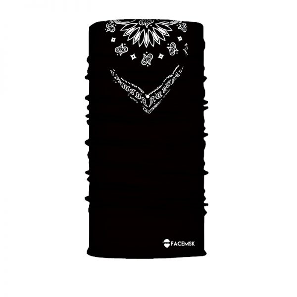 Black Bandana Face Shield - Face Mask