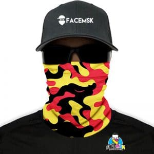 Belgian Military Camo Face Shield - Face Mask