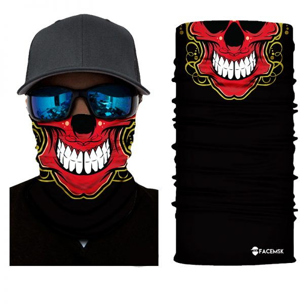 Red Skull Face Shield - Face Mask