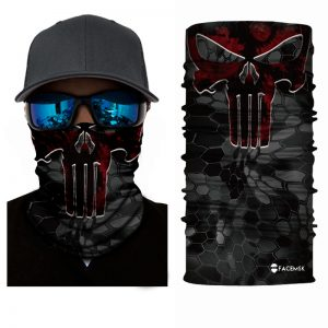 Red Punisher Face Shield - Face Mask