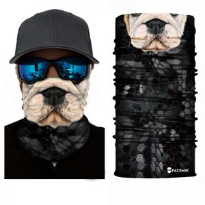 Bulldog Pup Face Shield - Face Mask