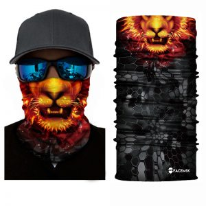 Orange Lion Face Shield - Face Mask