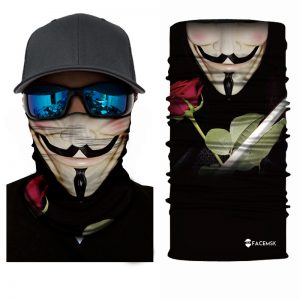 Anonymous Rose Face Shield - Face Mask