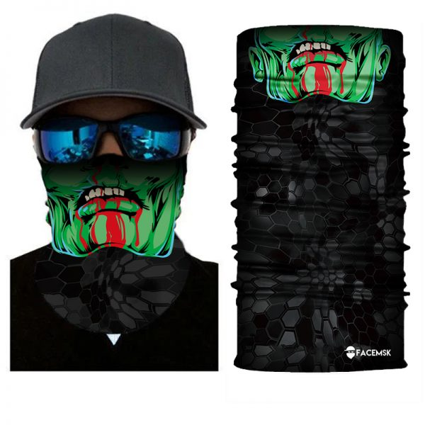 Green Zombie Face Shield - Face Mask