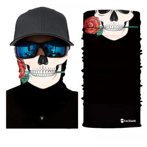 Skulls & Roses Face Shield - Face Mask!