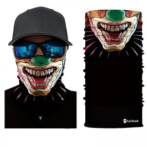 Scary Clown Face Shield - Face Mask